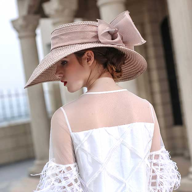 Ladies' Beautiful/Special Papyrus Straw Hats/Beach/Sun Hats With Flower