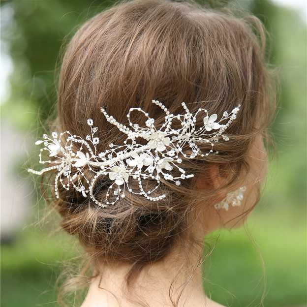 Ladies Alloy/Imitation Pearls With Beads/Rhinestone Combs & Barrettes