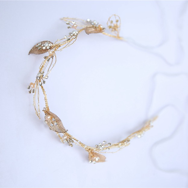 Ladies Glamourous/Shining Alloy/Freshwater Pearl With Beads/Rhinestone Headbands