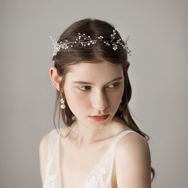 Ladies Freshwater Pearl With Beads Venetian Pearl Headbands (Sold in single piece)