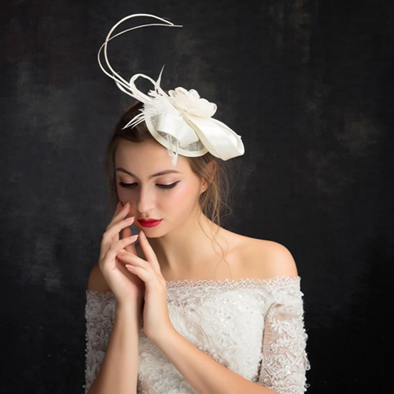 Ladies' Elegant/Beautiful Cambric Fascinators With Feather Flower