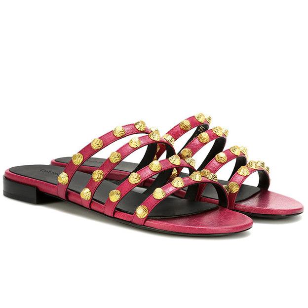 Women's PU With Rivet Flats Flip Flops Shoes