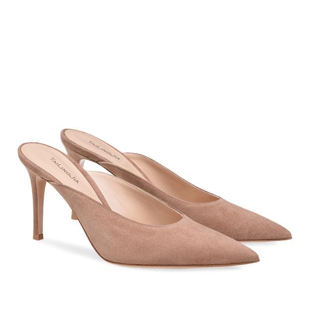 Women's Suede Flip Flops Heels Fashion Shoes