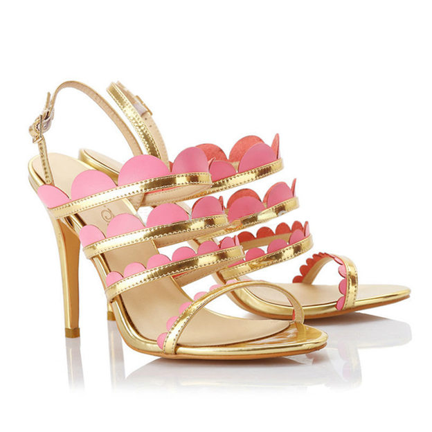 Women's PU With Buckle Heels Sandals Fashion Shoes