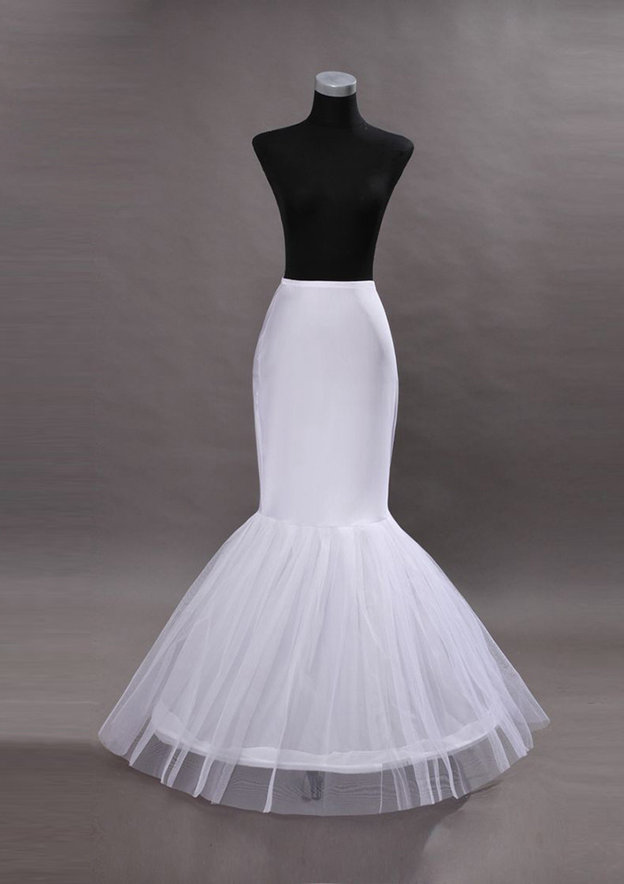 Women Polyester Long/Floor-length 2 Tiers Bridal Petticoats