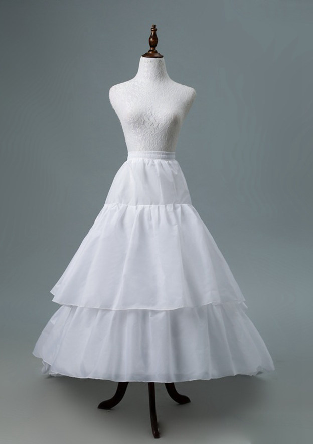 Women Polyester Asymmetrical 3 Tiers Bridal Petticoats