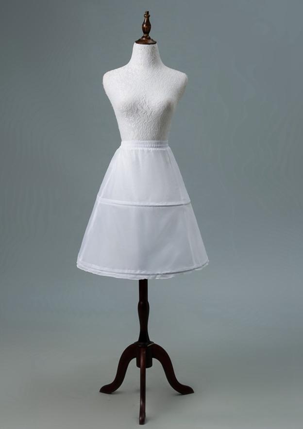 Women Polyester Short/Mini 1 Tier Bridal Petticoats