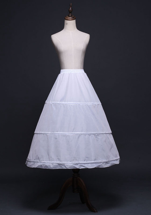 Women Polyester Tea-length 1 Tier Bridal Petticoats