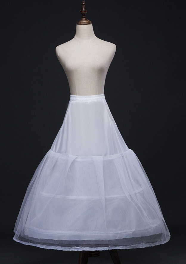 Women Polyester/Tulle Netting Tea-length 2 Tiers Bridal Petticoats