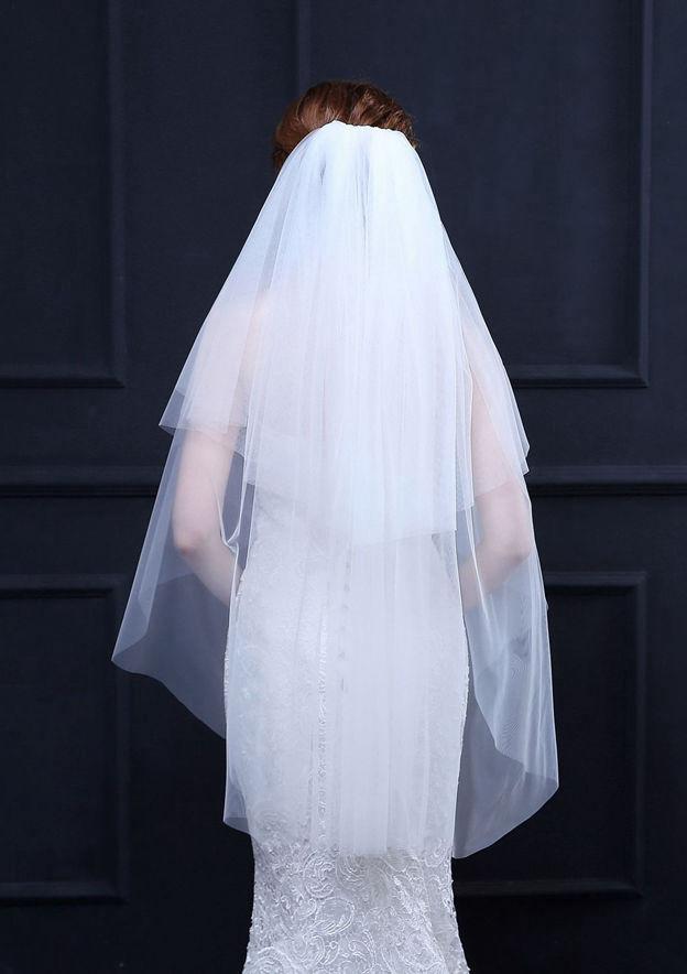 Tulle Fingertip Bridal Veils