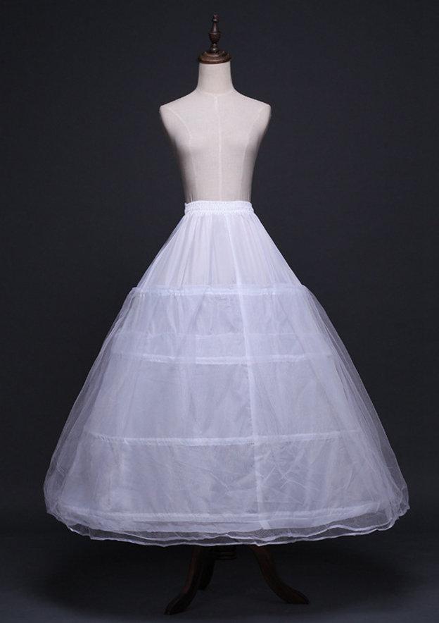 Women Tulle Netting Long/Floor-length 3 Tiers Bridal Petticoats