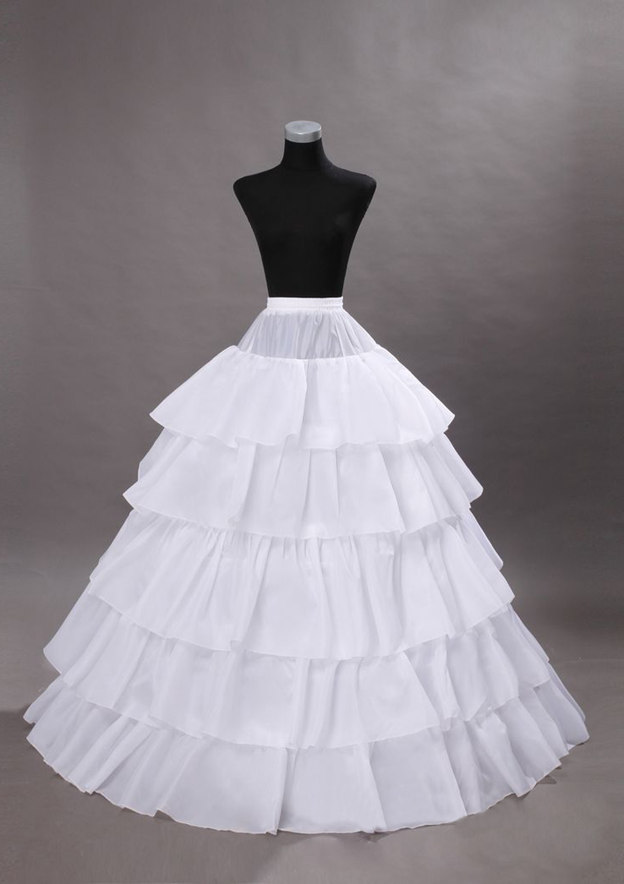 Women Polyester Long/Floor-length 5 Tiers Bridal Petticoats
