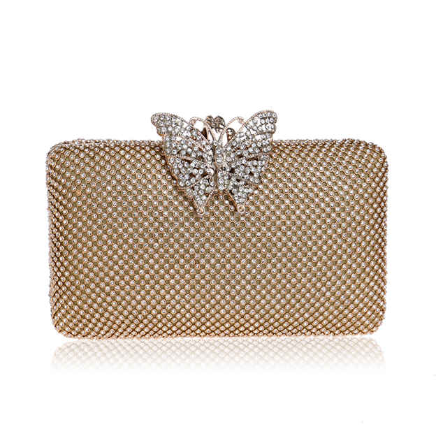 Beautiful Alloy Clutches/Evening Bags With Rhinestone
