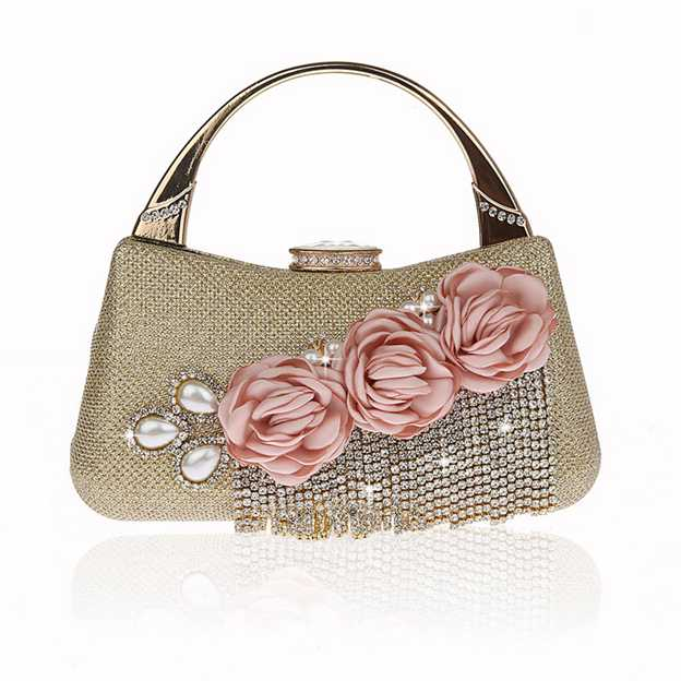 Colorful PU Top Handle Bags With Tassel/Flower