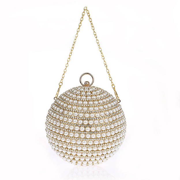 Attractive Rhinestone/Imitation Pearls Clutches/Evening Bags