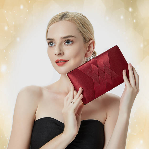 Elegant Polyester Clutches/Evening Bags