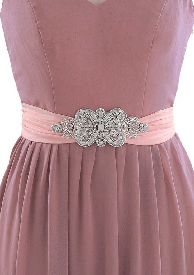 Charming Cloth Sash With Rhinestones