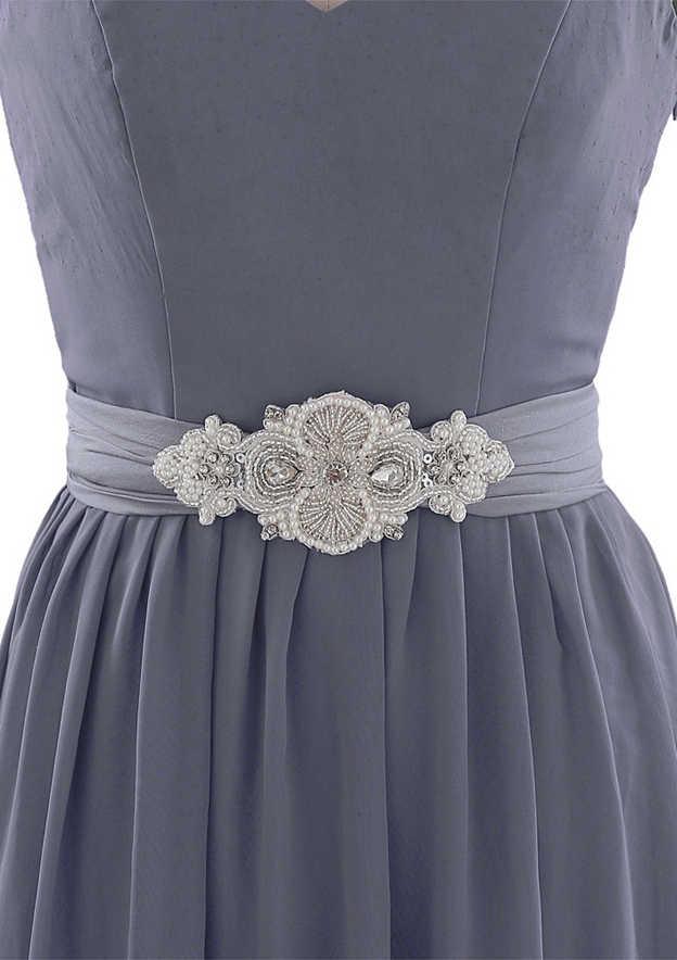Charming Cloth Sash With Beading/Imitation Pearls