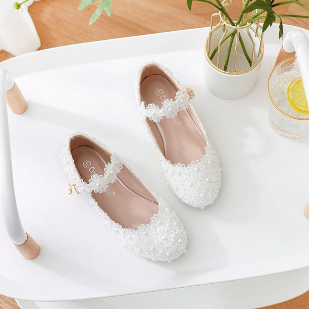 Girl's PU With Appliqued Flats Shoes