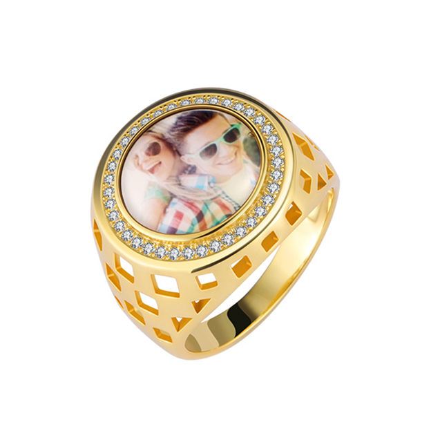 Personalized Customized 925 Sterling Silver One Photo Rings