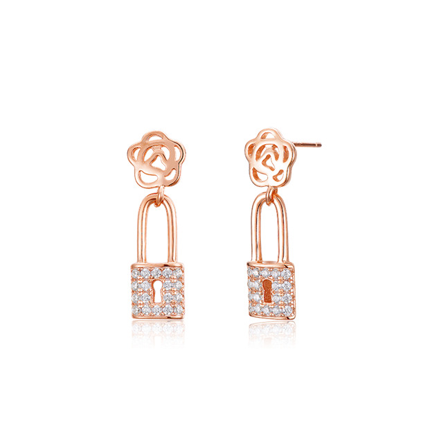 Women's Romantic 925 Sterling Silver Earrings With Cubic Zirconia