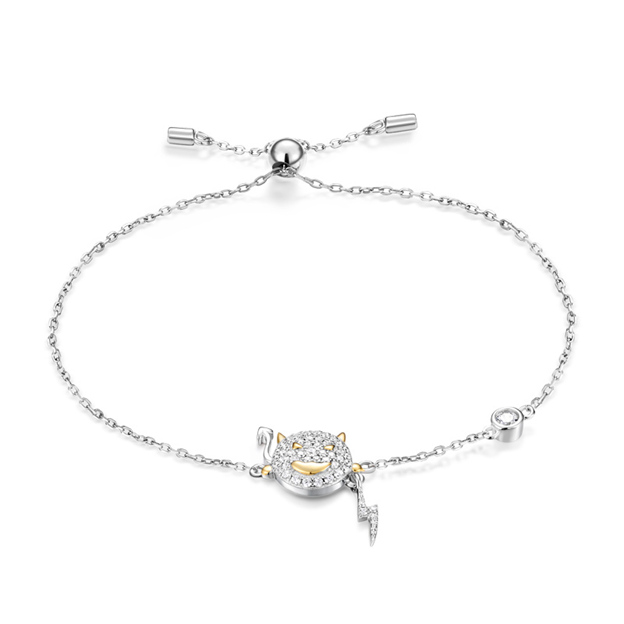 Women's Fashionable 925 Sterling Silver Bracelets With Cubic Zirconia