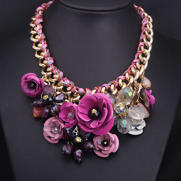 Ladies' Attractive Alloy Necklaces With Crystal For Mother/For Her