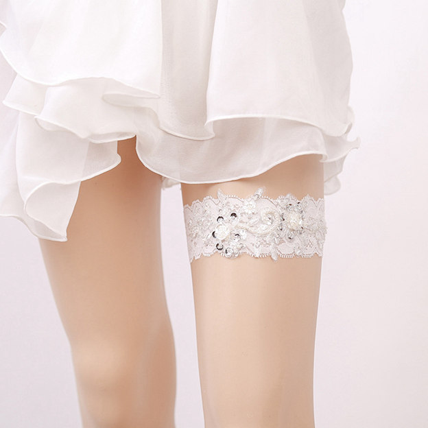 Bridal Pretty Lace Garters With Sequins