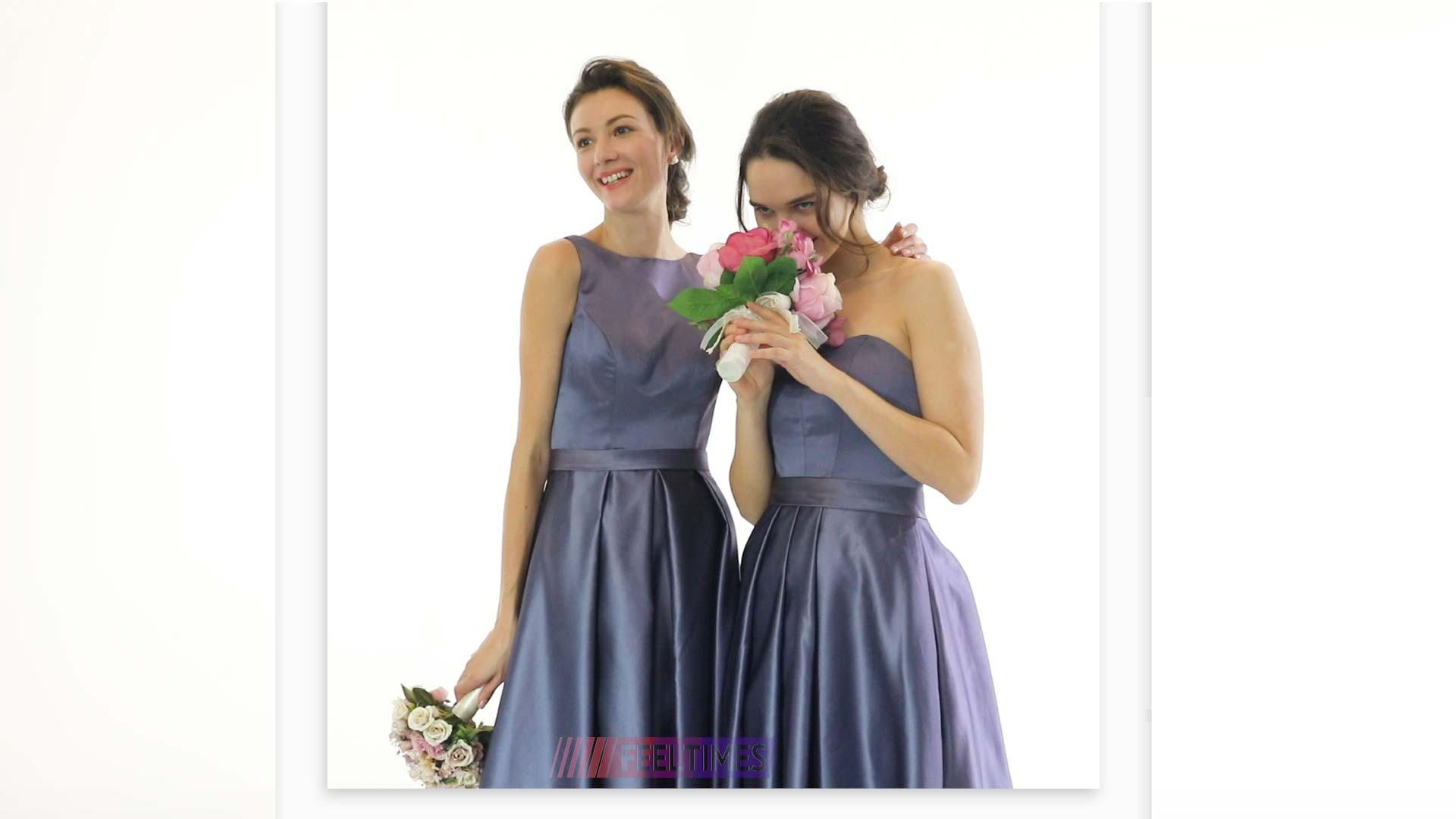 Bridesmaid Dresses M18097B & M18098B丨Satin Bridesmaid Dresses - FeelTimes